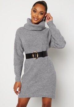BUBBLEROOM Melissi knitted sweater dress Grey-blue bubbleroom.fi