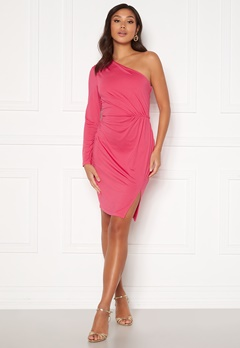 BUBBLEROOM Meryam one shoulder dress Pink Bubbleroom.fi