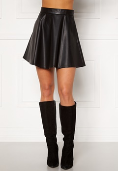 BUBBLEROOM Michelle PU skirt Black Bubbleroom.fi