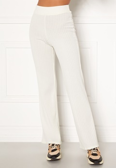BUBBLEROOM Miley knitted trousers White Bubbleroom.fi