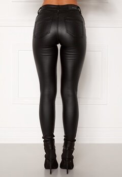 BUBBLEROOM Miranda Push-up coated jeans Black Bubbleroom.fi