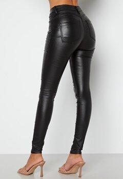 BUBBLEROOM Miranda Push-up coated jeans Black bubbleroom.fi