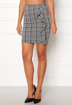 BUBBLEROOM Mirella frill skirt Grey / White / Black / Print Bubbleroom.fi