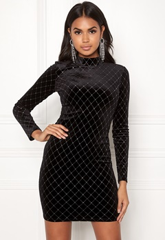 BUBBLEROOM Mirella sparkling dress Black / Silver Bubbleroom.fi