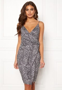 BUBBLEROOM Mirelle twist dress Leopard Bubbleroom.fi