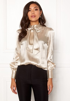 BUBBLEROOM Molly bow blouse Champagne Bubbleroom.fi