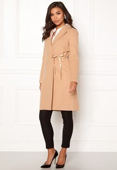 BUBBLEROOM Molly classic coat Camel Bubbleroom.fi
