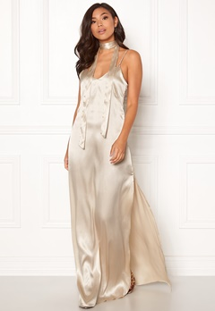 BUBBLEROOM Molly classic slip dress Champagne Bubbleroom.fi