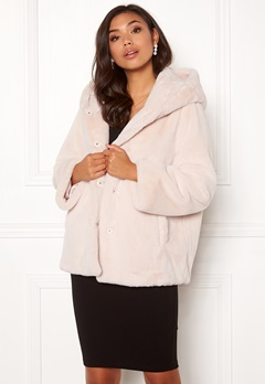 BUBBLEROOM Molly faux fur jacket Beige Bubbleroom.fi