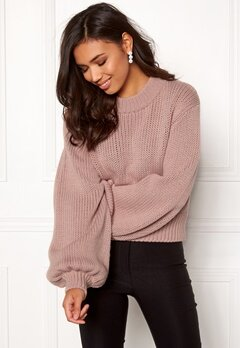 BUBBLEROOM Molly knitted sweater Dusty pink Bubbleroom.fi