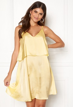 BUBBLEROOM Monaco slip dress Light yellow Bubbleroom.fi