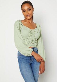 BUBBLEROOM Nadja soft blouse Dusty green bubbleroom.fi