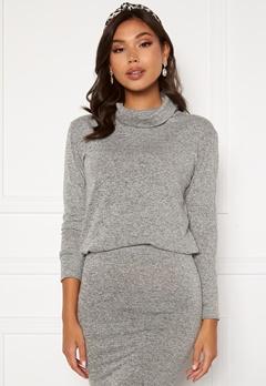 BUBBLEROOM Nalia fine knitted sweater Light grey melange Bubbleroom.fi