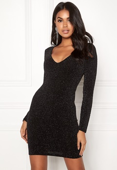 BUBBLEROOM Nemi lurex dress Black / Silver Bubbleroom.fi