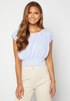 BUBBLEROOM Nicolina tie top Light blue Bubbleroom.fi
