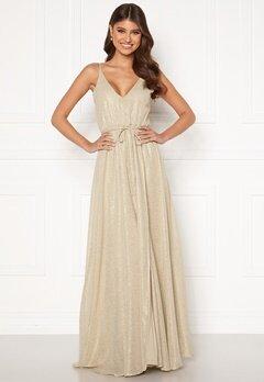 BUBBLEROOM Nionne sparkling chiffon prom dress Gold-coloured / Champagne Bubbleroom.fi