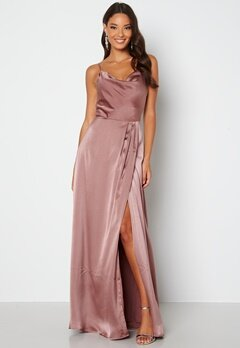 Bubbleroom Occasion Marion Waterfall Dress Old rose bubbleroom.fi