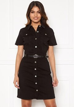 BUBBLEROOM Odina denim dress Black Bubbleroom.fi