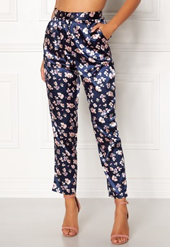 BUBBLEROOM Pandora trousers Dark blue / Floral Bubbleroom.fi