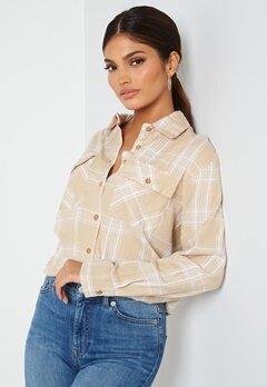 BUBBLEROOM Pie flannel shirt Beige / White / Checked bubbleroom.fi