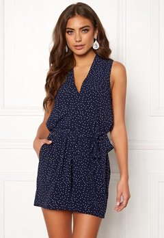 BUBBLEROOM Raven playsuit Blue / White / Dotted Bubbleroom.fi