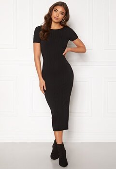 BUBBLEROOM Rayan twist back dress  Black Bubbleroom.fi