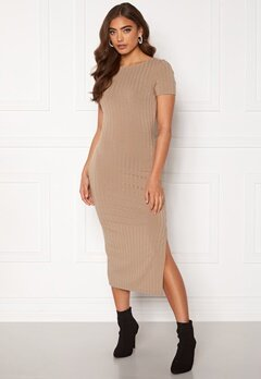 BUBBLEROOM Rayan twist back dress  Dark beige Bubbleroom.fi