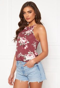 BUBBLEROOM Ruthie high neck top Pink / Floral Bubbleroom.fi