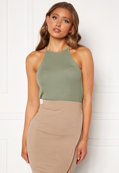 BUBBLEROOM Ruthie high neck top Dusty green Bubbleroom.fi