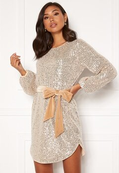 BUBBLEROOM Sanja sparkling dress Champagne / Silver Bubbleroom.fi