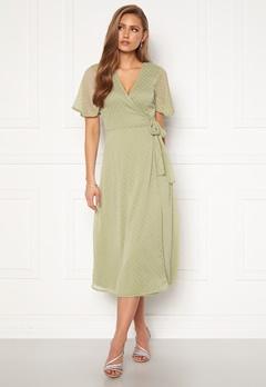 BUBBLEROOM Scarlette midi dotted dress Dusty green Bubbleroom.fi
