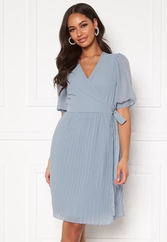 BUBBLEROOM Sinja puff sleeve dress Light blue Bubbleroom.fi