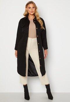 BUBBLEROOM Sofie Shirt Coat Shacket Black Bubbleroom.fi