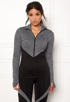BUBBLEROOM SPORT Burpees then slurpees sport jacket Black / Grey Bubbleroom.fi