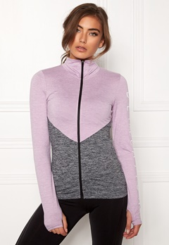 BUBBLEROOM SPORT Burpees then slurpees sport jacket Grey melange / Lilac melange Bubbleroom.fi