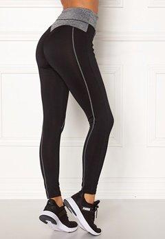 BUBBLEROOM SPORT Butt sport tights Black / Grey melange Bubbleroom.fi
