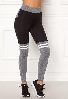 BUBBLEROOM SPORT Excite sport tights Grey melange / Black Bubbleroom.fi