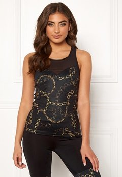 BUBBLEROOM SPORT Excite sport top Black / Patterned Bubbleroom.fi