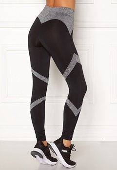 BUBBLEROOM SPORT Fierce sport tights Black / Grey melange Bubbleroom.fi