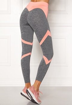 BUBBLEROOM SPORT Fierce Sport Tights Dark grey melange / Apricote Bubbleroom.fi