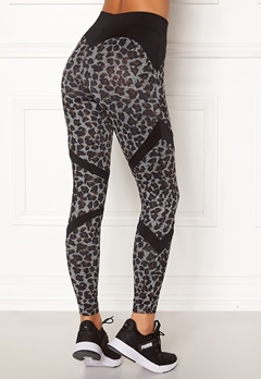 BUBBLEROOM SPORT Fierce sport tights Leopard / Black Bubbleroom.fi