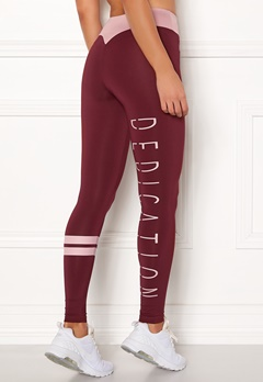 BUBBLEROOM SPORT Move it sport tights Dark red / Pink / Text Bubbleroom.fi