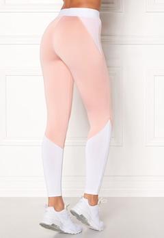 BUBBLEROOM SPORT Strongest sport tights Light pink / White Bubbleroom.fi