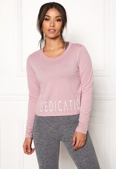 BUBBLEROOM SPORT The dedication sport top Dusty pink Bubbleroom.fi