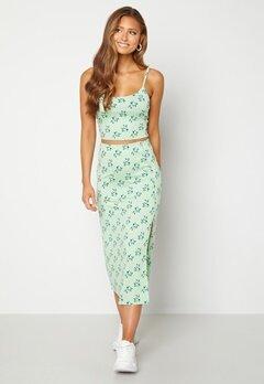 BUBBLEROOM Thelsie midi skirt Green / Floral Bubbleroom.fi