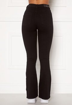 BUBBLEROOM Tove high waist flared superstretch Black Bubbleroom.fi