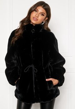 BUBBLEROOM Trixie faux fur jacket Black Bubbleroom.fi
