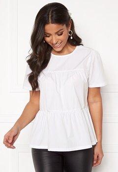 BUBBLEROOM Vera blouse White Bubbleroom.fi