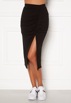 BUBBLEROOM Vilja rib skirt Black Bubbleroom.fi