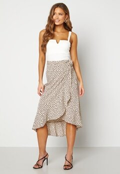 BUBBLEROOM Villima midi skirt Beige / Black / Dotted Bubbleroom.fi